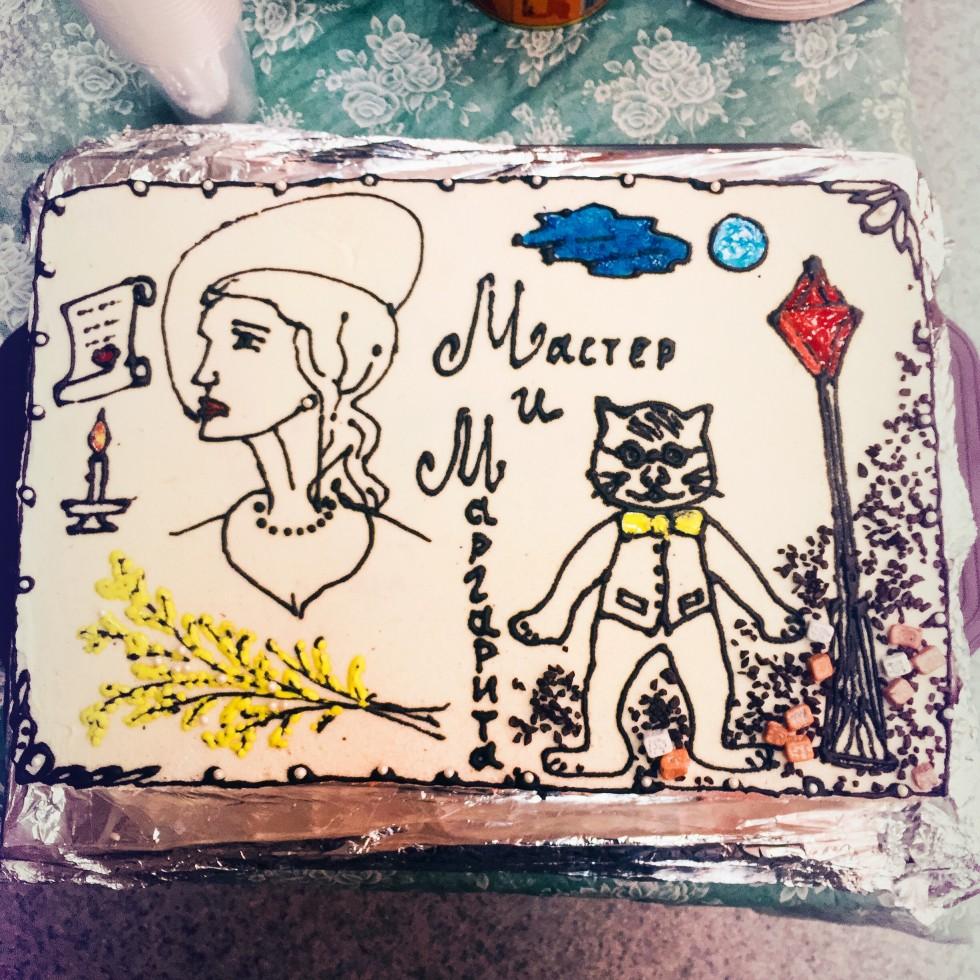 Торт к юбилею спектакля «Мастер и Маргарита»